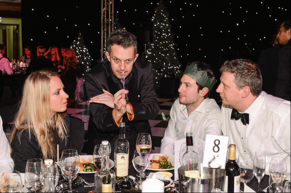 Magician at X-Mas Party in London 1